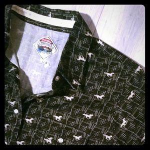 Horse Print Cumberland Outfitters Women Shirt